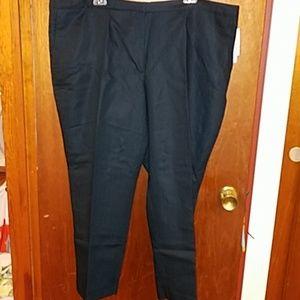 Linen blend suit pants Navy NWT